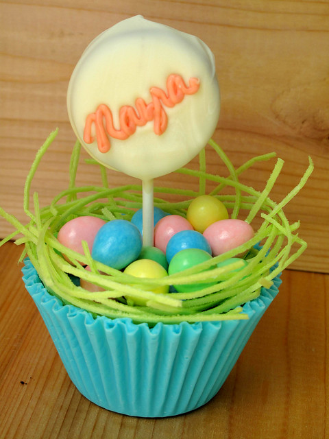 Easter Oreo Dipped Pops in Chocolate Candy Cup Nest