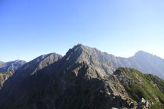 西穂高岳から見た穂高岳