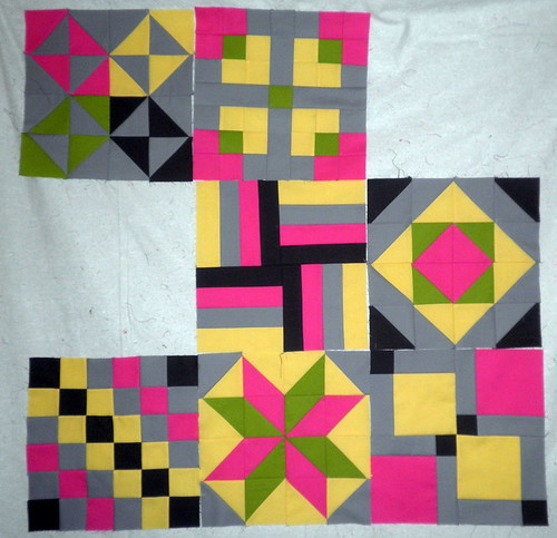 Layout thus Far - Patchwork Squared Modern Solids Quilt Along