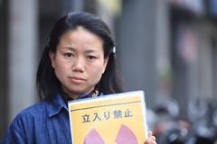 來自福島的大島絢子,以反核為職志,呼籲台灣社會,勿重演福島核災悲劇。圖片來自:鐘聖雄。