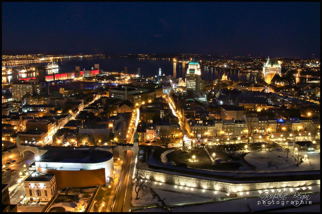 Old Quebec City at Night