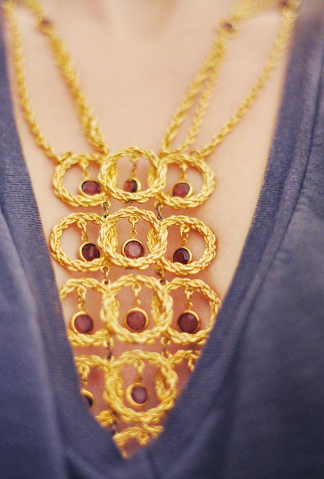 70s large pendant necklace