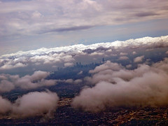 City of Chicago Skyline (Including The Willis Tower a.k.a. Sears Tower) Seen Thru Clouds From An Airplane; Illinois (hogophotoNY) Tags: city usa chicago tower skyline clouds skyscraper plane airplane us illinois midwest sears searstower united il states fromaplane deepdish cityskyline chicagoskyline chicagoillinois fromanairplane hogo hogophoto willistower thrutheclouds