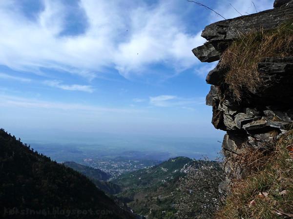 Climbing to Triund