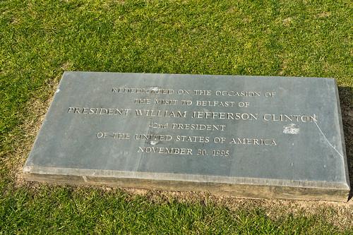 Belfast City Hall - President William Jefferson Clinton Was Here