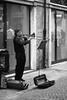 un pò di jazz (Gianni..) Tags: bw strada musica trombone suonatore blackwhitephotos smarino 55250mm fotografinewitaliangeneration eos1000d