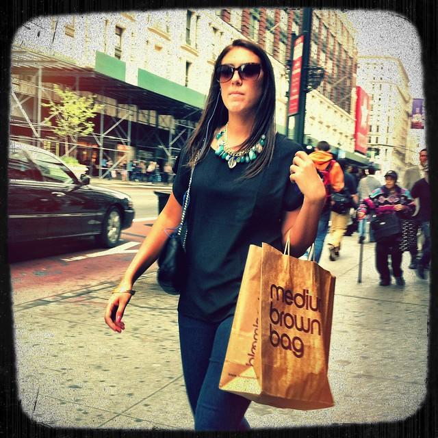 Medium Brown Bag Shopper