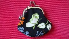 mini porte-monnaie papillon & oiseau