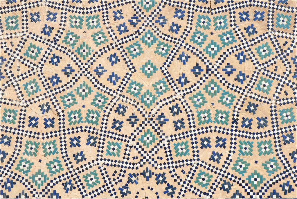 Décor de la médersa d'Abdullah Khan (Boukhara, Ouzbékistan)