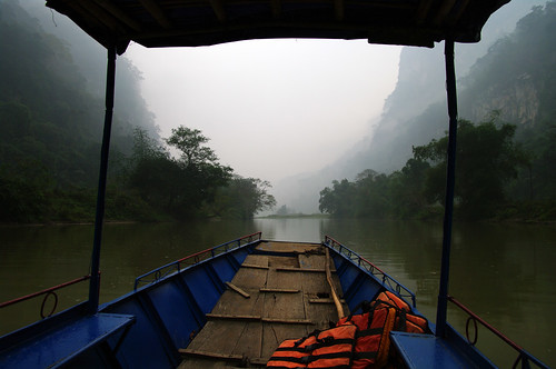 Boat ride on Ba Bể lake by Gregor  Samsa