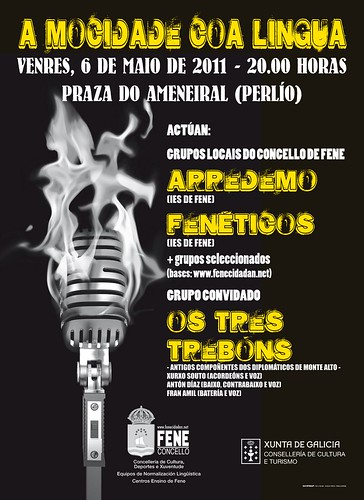 Fene 2011 - A Mocidade coa Lingua - concerto Perlío - cartel