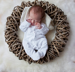 Some days you just want sleep all day!! (Mick h 51) Tags: ireland cute girl beautiful canon eos bed twins basket sleep sophie twin images explore newborn april getty rug prop gettyimages 2011 explored 450d