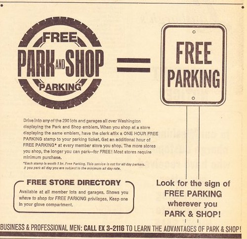 Park and Shop ad, Washington Star, 4/10/1968