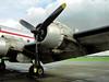 609 North Weald 24-11-02 red stripe DC4 engine 1 (Proplinerman) Tags: aircraft douglas airliner skymaster dc4 c54 northweald propliner 56498 pistonliner