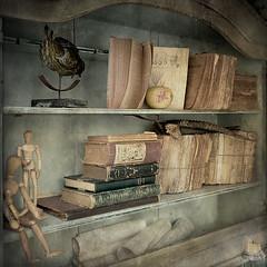 le verbe d'antan (ixos) Tags: old texture square souvenirs interestingness books explore layers brocante vieux carr 500x500 ixos calques texturesquared redmatrix