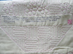 Label of Jessie's quilt