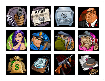 free Reel Gangsters slot game symbols