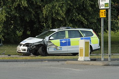 Police Car Crash (Keith Park) Tags: news crash northamptonshire police copper denial bully northants coppers corby fuzz 999 deny writeoff plod policecrash seizureofcamera iamnotaterroristiamaphotographer