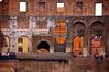 View through the Colosseum, Rome