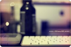 172/365 Code & Beer (matthewcoughlin) Tags: apple beer 50mm mac keyboard desk bokeh harddrive 3652011 2011inphotos
