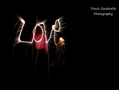 love. (traviscardarella) Tags: white black love night speed dark nikon bright firework shutter sparkler sparks