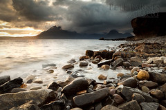 Elgol, Skye - Explored (Pete Barnes Photography) Tags: sunset sea mountain seascape storm skye beach water rain scotland waves moody isleofskye stones pebbles ridge westernisles cullins cullin elgol blackcullin