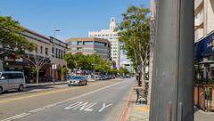 Santa Monica, California (Anthony's Olympus Adventures) Tags: santamonica downtownsantamonica santamonicaca losangeles la ca california usa america city cityscape streetscape downtown road car sunny tree santamonicaboulevard discoversantamonica