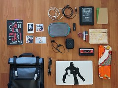 Daily carry, September 2016 (cjazzlee) Tags: timbuk2 everydaycarry evernote kindle