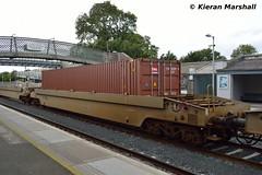 36019 at Kildare, 22/9/16 (hurricanemk1c) Tags: railways railway train trains irish rail irishrail iarnrd ireann iarnrdireann kildare 2016 dfds detforenededampskibsselskab 36019 cpw containerpocketwagon 1105ballinawaterford
