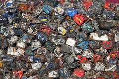 Recyclable (Michael@H) Tags: car scrapheap recycle recycling steel rust