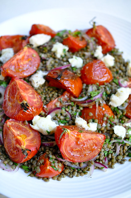 Castelluccio Lentils With Tomatoes And Gorgonzola Recipes — Dishmaps