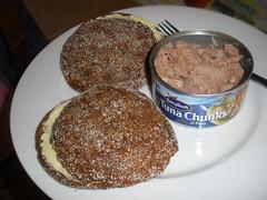 Finnish rye bread and a tin of tuna