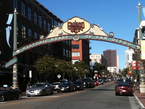 Entrance to the historic Gas Lamp Quarter in San Diego