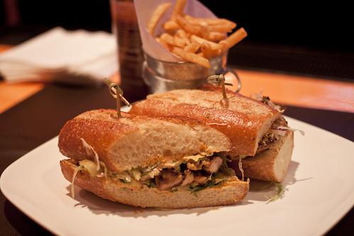 Social Eatz Kung Pao chicken sandwich