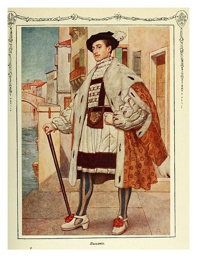 002-Bassanio-Shakespeare's comedy of the Merchant of Venice 1914- James D. Linton