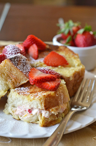 Strawberry Stuffed French Toast