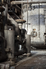 boilers and pipes. (stevenbley) Tags: urban plant abandoned electric metal rust energy bokeh decay exploring maryland urbanexploration powerplant coal grime exploration bodyodor sneaking urbex hobos