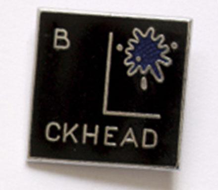 Barney Bubbles' Blockhead logo - Do It Yourself badge 1979.