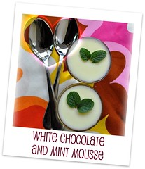 White chocolate and mint mousse - my custard pie