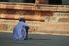 Cane (sparkeypants) Tags: old travel india man cane canon walking geotagged sitting stick sat karnataka hampi earthasia