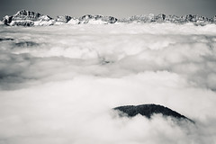 Above The Clouds I (Philipp Klinger Photography) Tags: above trip trees light shadow sea vacation sky cloud mountain holiday snow ski france mountains alps tree up weather rock clouds forest grenoble nikon frankreich rocks europa europe alpen philipp isere chamrousse klinger rhonealpes isre croixdechamrousse d700 dcdead