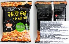 Ramen noodles snack, black pepper