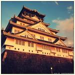 夕日を浴びた大阪城 (Osaka Castle at Sunset)