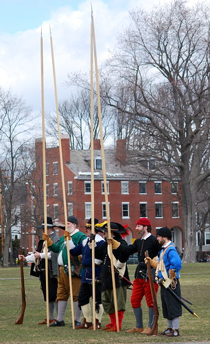 Re-enactors with the Salem Trayned Band