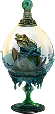 frog jar - water