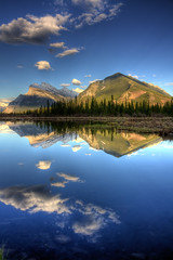 Nature's symmetry (JoLoLog) Tags: trees lake canada mountains reflection joe alberta hdr mountrundle banffnationalpark vermilionlakes colorphotoaward canonxsi bestcapturesaoi elitegalleryaoi mygearandme mygearandmepremium mygearandmebronze mygearandmesilver mygearandmegold mygearandmeplatinum mygearandmediamond dblringexcellence tplringexcellence eltringexcellence