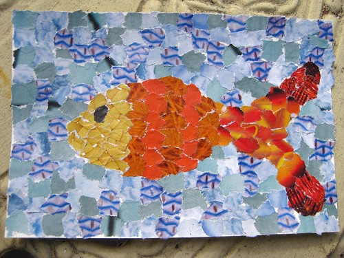 handmade postcard - fish