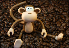 Gotta have coffee (Rigib) Tags: coffee caf canon toy monkey beans kaffee explore macaco 60mm abe frontpage caff ono affe kva    mapa f130  img4508 lens00025 explore5 bobbyjack  kawy  365toyproject   ourdailychallenge
