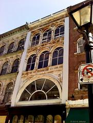 Granville Architecture (tvordj) Tags: windows signs architecturaldetail lg lookingup mobilephone halifax lampposts challengeyouwinner cywinner pregamewinner