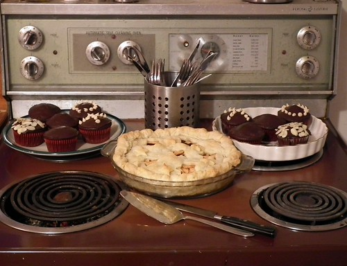 pie and cupcakes